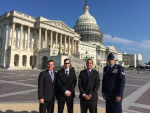 From left to right; Center for Prosecutor Integrity Program Director Mr. Chris Perry, USAF Major Michael Turpiano, West Point Cadet Trent Cromartie, USAF Technical Sergeant Aaron Allmon